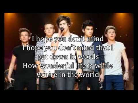 One Direction - Your Song (lyrics)