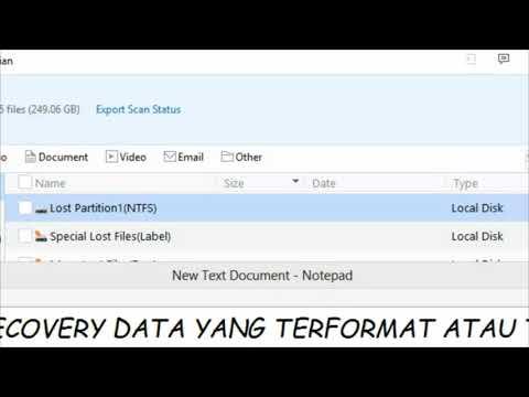DISINI saya ingin share cara untuk mengembalikan data yang hilang, baik dalam hardisk internal kompu.