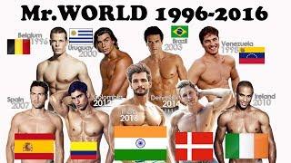 Mister World Title Holder 1996-2016, Complete list of Mr.Worlds.