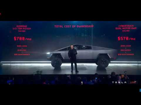 WATCH LIVE! Elon Musk presents the new Tesla Cybertruck Laun
