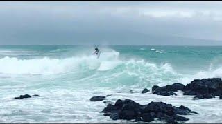 הוואי הוריקן ליין גלים גבוהים מאווי