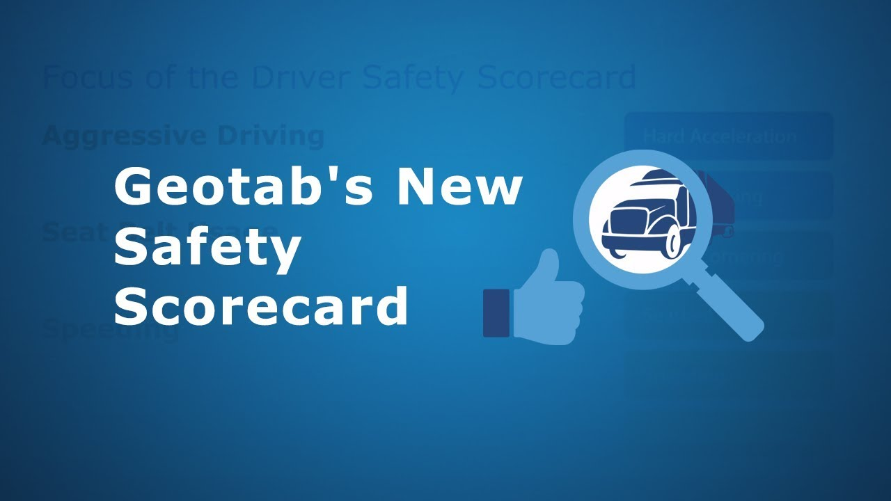 Geotab New Safety Scorecard