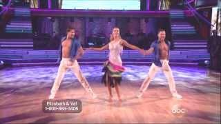 Val Chmerkovskiy & Elizabeth Berkley Lauren with Gleb Savchenko dancing Salsa on DWTS 11 11 13