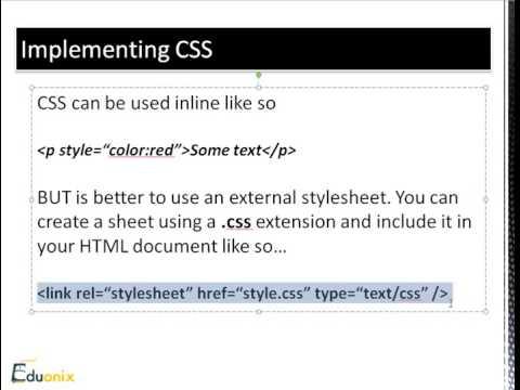 HTML & CSS Fundamentals