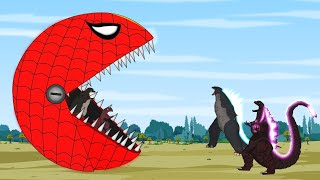 Godzilla, Shin Godzilla vs SPIDER PAC-MAN Attack [P2] | Godzilla Animation Cartoon