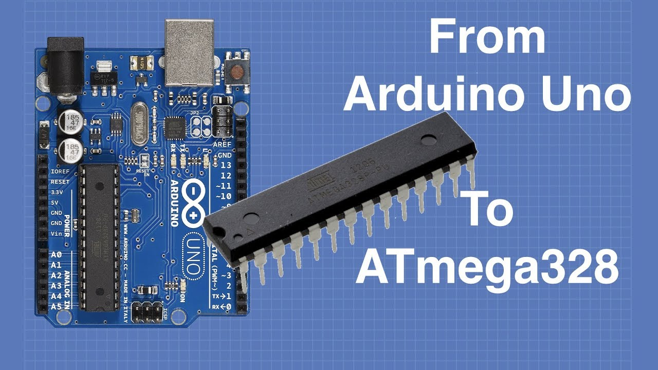 Arduino Uno to ATmega328 - Shrinking your Arduino Projects