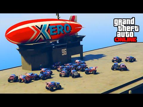 SKY SHIP MOD & RACCOON SQUAD! || GTA 5 Online || PC