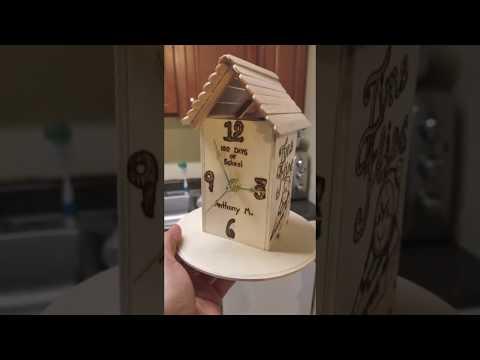 Wooden clock project DIY