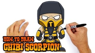 How to Draw Scorpion | Mortal Kombat