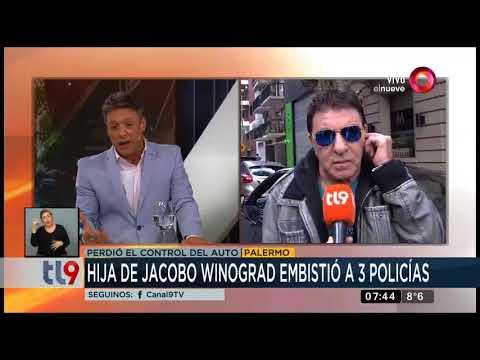 La hija de Jacobo Winogrand atropelló a 3 policías
