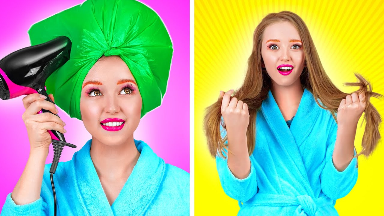 SMART BEAUTY AND MAKE UP HACKS || Girly Tricks And DIYs by 123 GO! GOLD