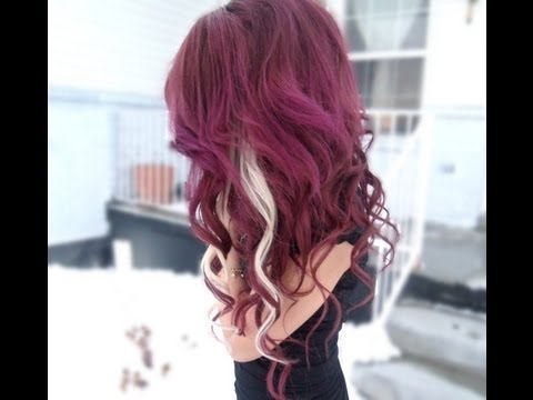 how to dye dark hair red without bleach
