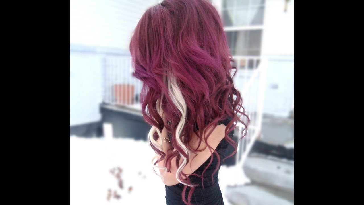 dye dark purple hair
