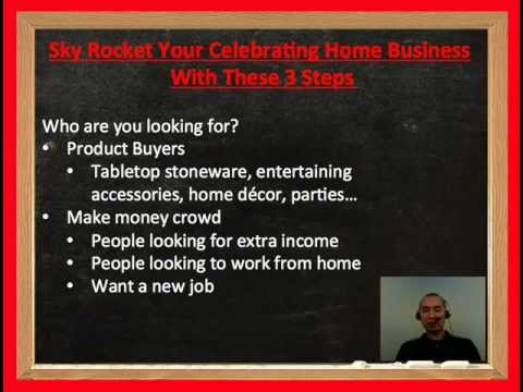 Sky Rocket Your Celebrating Home Business With These 3 Steps