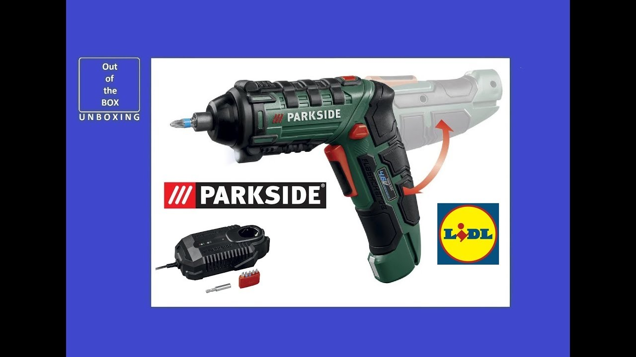 Parkside Flashcharge Screwdriver Psf 46 A1 Unboxing Lidl