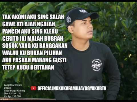 video Lirik 'Tak Akoni Aku Sing Salah' Lagu Terbaru NDX A.K.A Ft.PJR