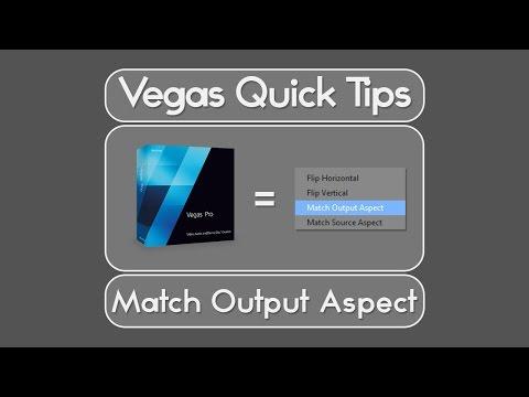 Vegas Pro | Quick Tips - Match Output Aspect