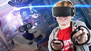 EASTER EGG HUNT IN VIRTUAL REALITY | First Contact VR (Oculus Touch Gameplay)