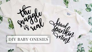 DIY Baby Onesies® | Cricut Vinyl Tutorial
