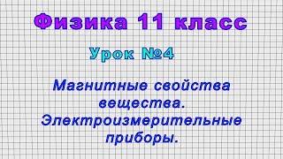 Физика 11 класс (Урок№4 - Магнитные свойства вещества. Электроизмерительные приборы.)