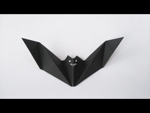 How to make: Origami Bat
