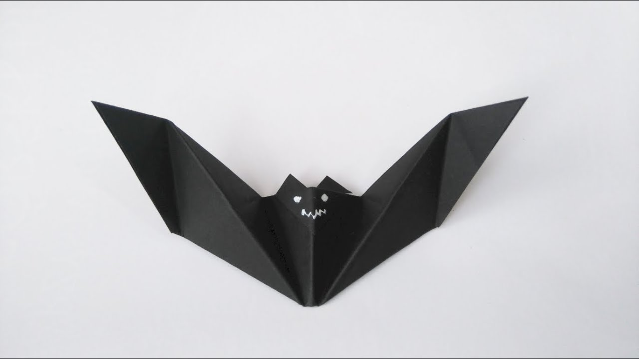 how to make origami bat youtube