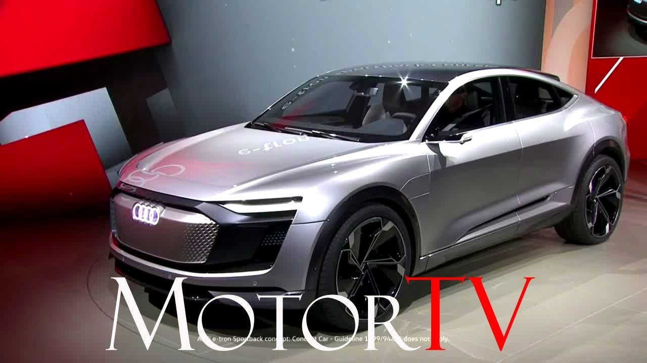Auto Shanghai 2017 All New Audi E Tron Sportback Concept L World Premiere