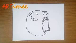 How to Draw a Troll Face
