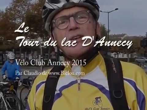 Tour du lac d 39 annecy du v lo club d 39 annecy 2015 youtube for Tours piscine du lac