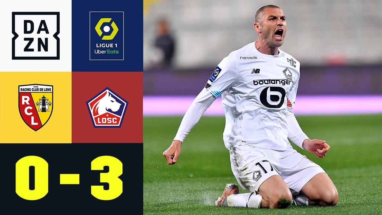 Lille auf Meisterkurs! Burak Yilmaz doppelt und wunderschön: Lens - Lille 0:3 | Ligue 1 | DAZN