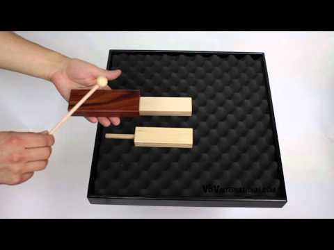 2-Tone Woodblock Bubinga 14.6cm - 3+ video