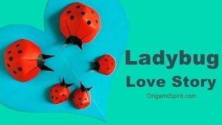 Origami Ladybug Love