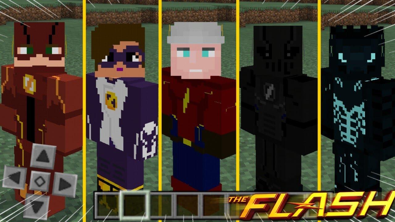 Saiu! O Melhor Skin-Pack do The Flash! - [ Todas As Skins Em HD, Muito  Épico ] Mcpe 8.86
