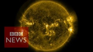 Solar Flares: Footage Released By Nasa   Bbc News