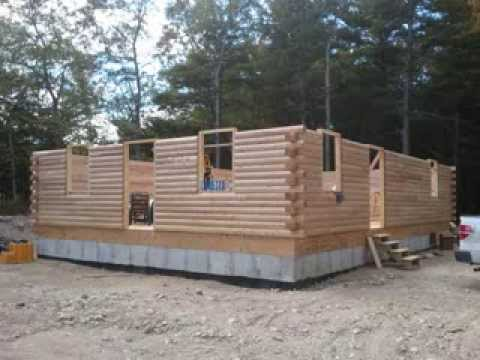 My Dream Log Home Project comes true YouTube