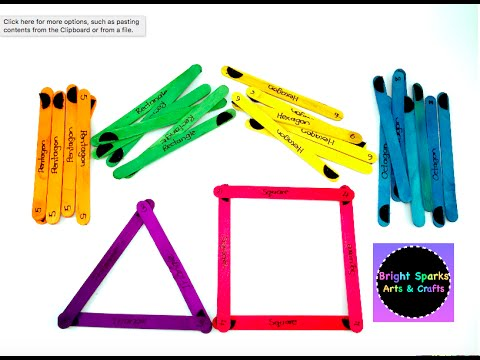 Learn Shapes with Popsicle Sticks * Puzzles * Maths * Teacher Resources * Art Craft Fun