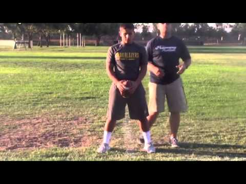One Step Footwork For The Wing-T Quarterback! - Football 2016 #12