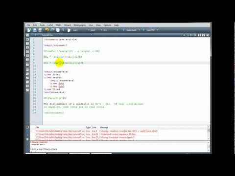LaTeX Tutorial 7 - Errors and Debugging