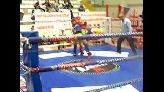 Gambar cover Muay Thai Sercan Kılıç EMF avrupa şampiyonası 42 kg Kırmızı Köşe