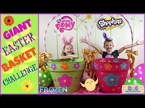 GIANT EASTER BASKET Biggest Surprise Eggs Challenge