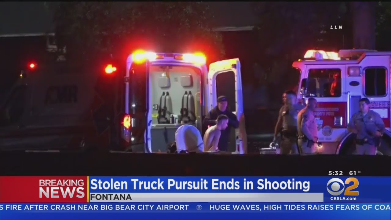Suspect Killed After Wild Pursuit Ends With Shooting On 10 Freeway In Fontana