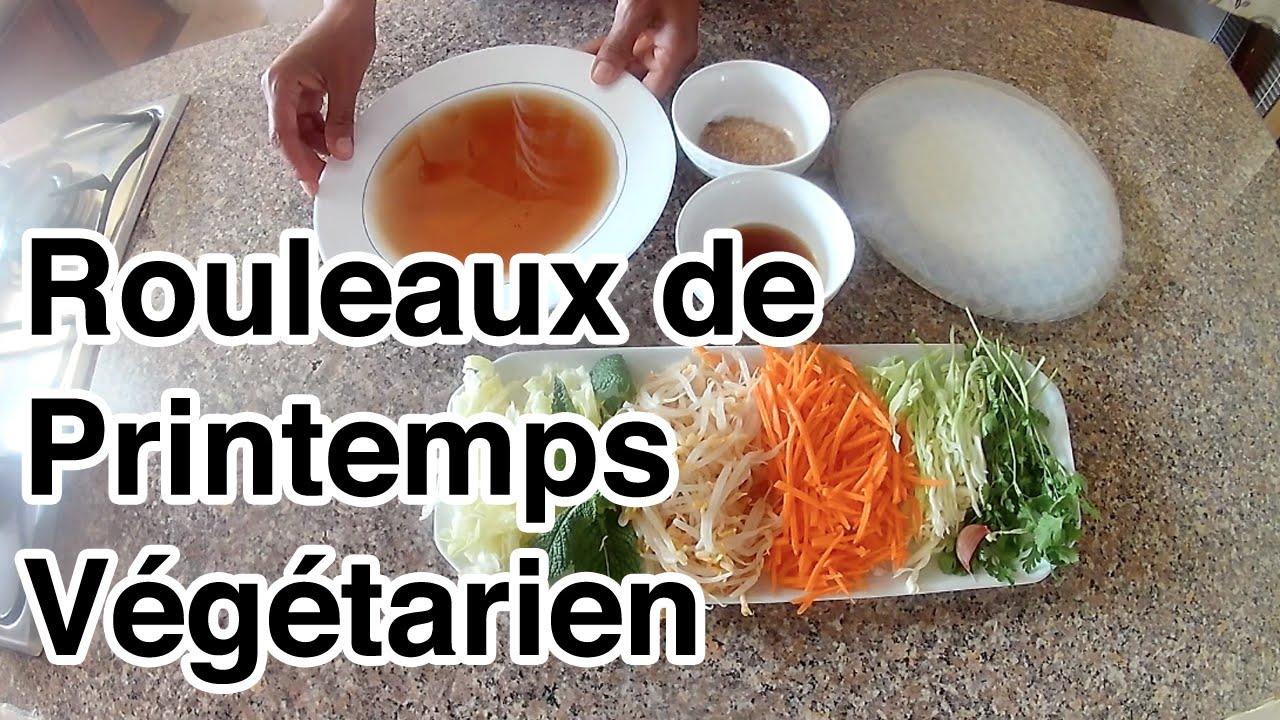 Recette Rouleaux De Printemps Vegetarien Youtube