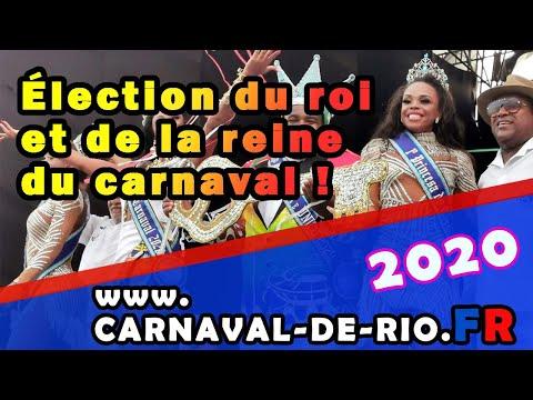 Election du roi et de la reine du Carnaval de Rio 2020 à Copacabana