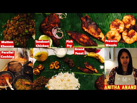 9 Items Non Veg Meal | Grand Cooking Video | Tamil Commentary