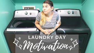 WASHING Laundry Day & CLEAN Sheet Day // Cleaning Motivation // Cleaning Mom