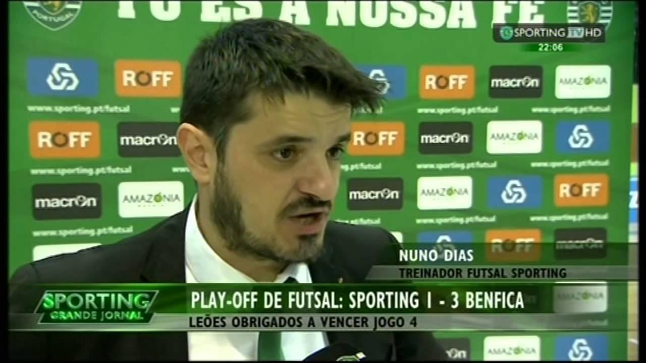 Futsal :: Play-off Final 3º Jogo :: Sporting - 1 x Benfica - 3 de 2014/2015