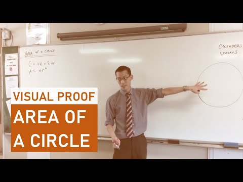 Quick Visual Proof: Area of a Circle