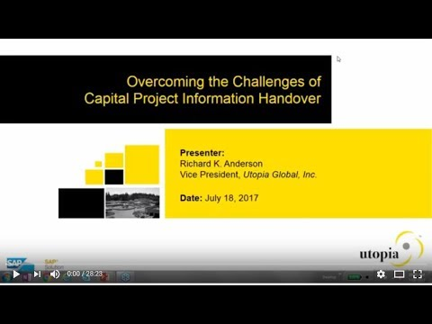 Overcoming the Challenges of Capital Project Information Handover