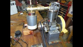 Model Gas Engine Spark Ignition Run With Generator