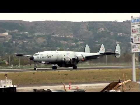 Lockheed EC-121 Super Constellation Departing Camarillo 1/14/12